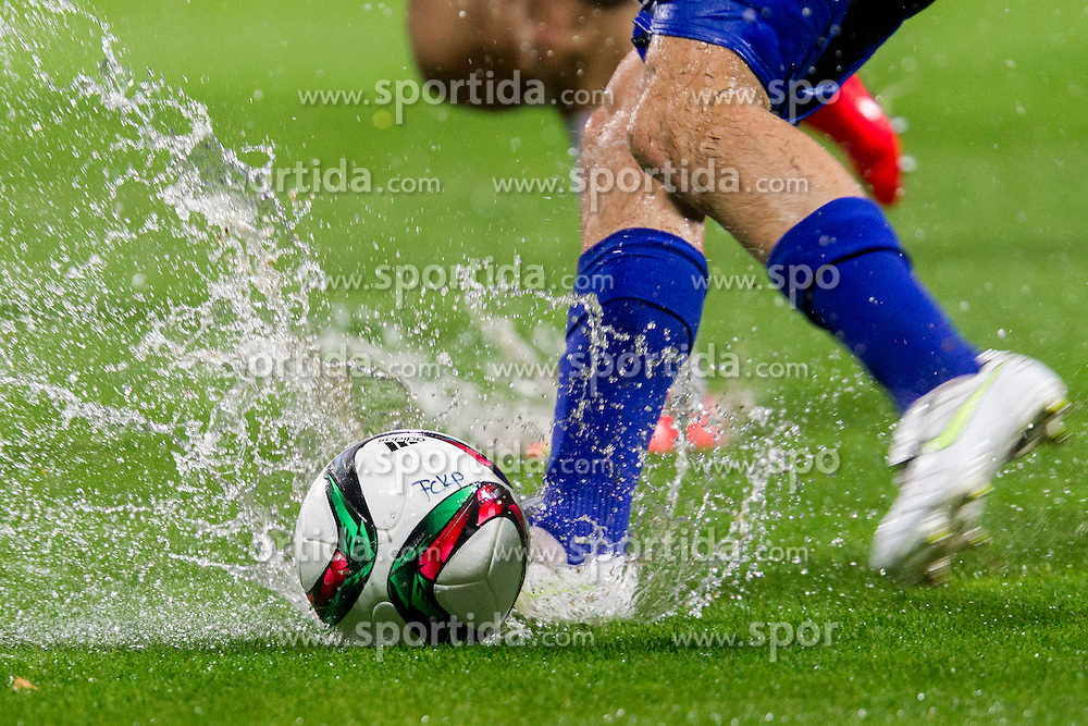 Water on a pitch during football match between FC Luka Koper and NK Krsko in 11th Round of Prva liga Telekom Slovenije 2015/16, on September 23, 2015 in Bonifika, Koper, Slovenia. Photo by Urban Urbanc / Sportida