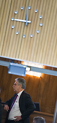 18.03.2015, Parlament, Wien, AUT, Parlament, Nationalratssitzung, Sondersitzung des Nationalrates auf Verlangen der FPÖ und Grünen zur Hypo Abbaugesellschaft HETA. im Bild Bundesminister für Finanzen Hans Jörg Schelling (ÖVP) // Minister of Finance Johann Georg Schelling (OeVP) during meeting of the National Council of austria according to topic Hypo Alpe Adria bank at austrian parliament in Vienna, Austria on 2015/03/18, EXPA Pictures © 2015, PhotoCredit: EXPA/ Michael Gruber