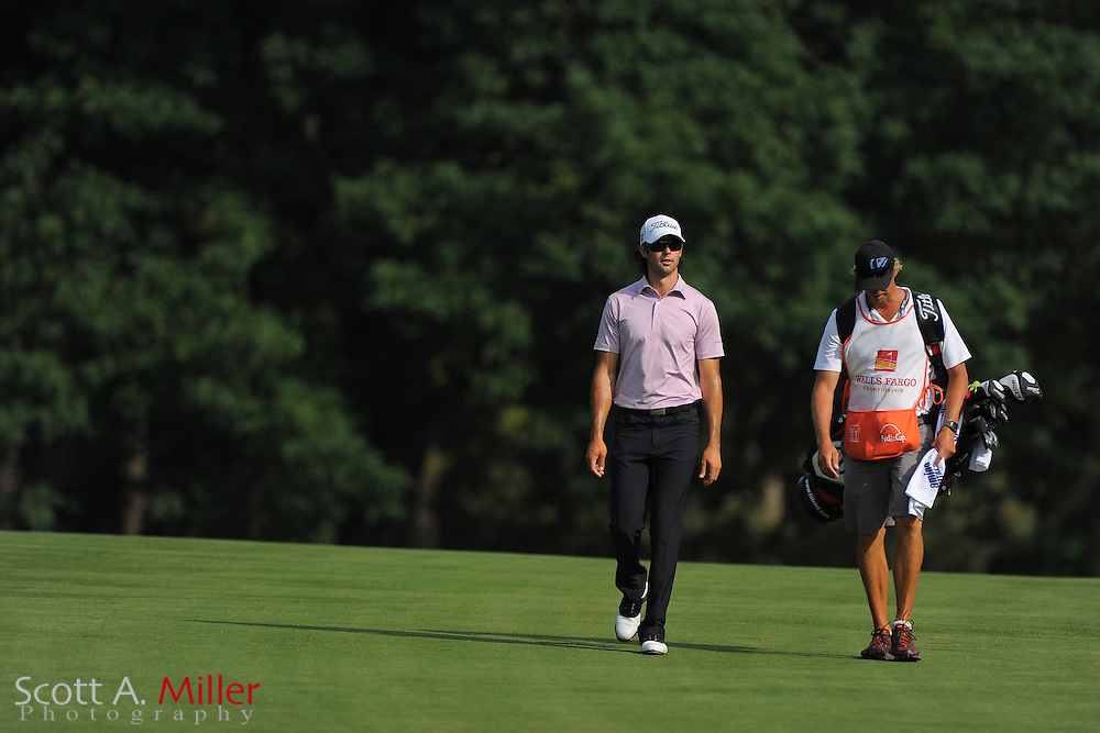 Cameron Tringale during the third round of the Wells Fargo Championship at the Quail Hollow Club on May 5, 2012 in Charlotte, N.C. ..©2012 Scott A. Miller.