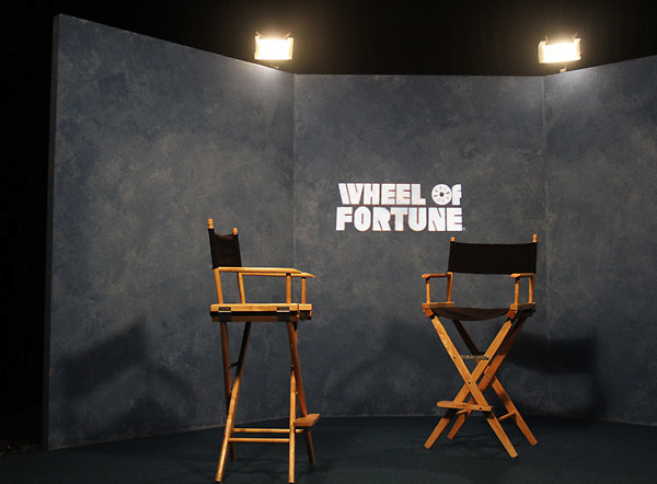 Chairs backstage during a taping of the Wheel of Fortune television show at the Oregon Convention Center in Portland on Monday, April 2, 2012.