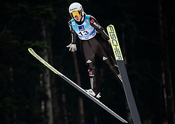 Svenja Wuerth of Germany soaring through the air during Trial Round at Day 1 of World Cup Ski Jumping Ladies Ljubno 2019, on February 8, 2019 in Ljubno ob Savinji, Slovenia. Photo by Matic Ritonja / Sportida