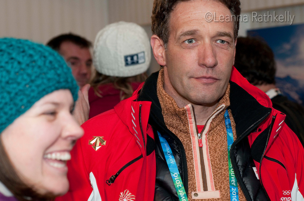 VIPs enjoy the Grand Opening of the House of Switzerland in Whistler for the 2010 Winter Olympic Games.