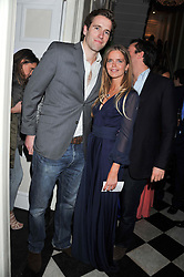 KATIE READMAN and WILFRED FROST at a reception hosted by Beulah London and the United Nations to launch Beulah London's AW'11 Collection 'Clothed in Love' and the Beulah Blue Heart Campaign held at Dorsia, 3 Cromwell Road, London SW7 on 18th October 2011.