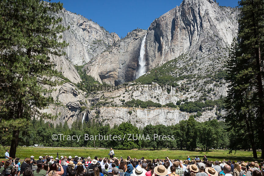 President Obama delivers remarks in Yosemite National Park, California, on Saturday, June 18, 2016.