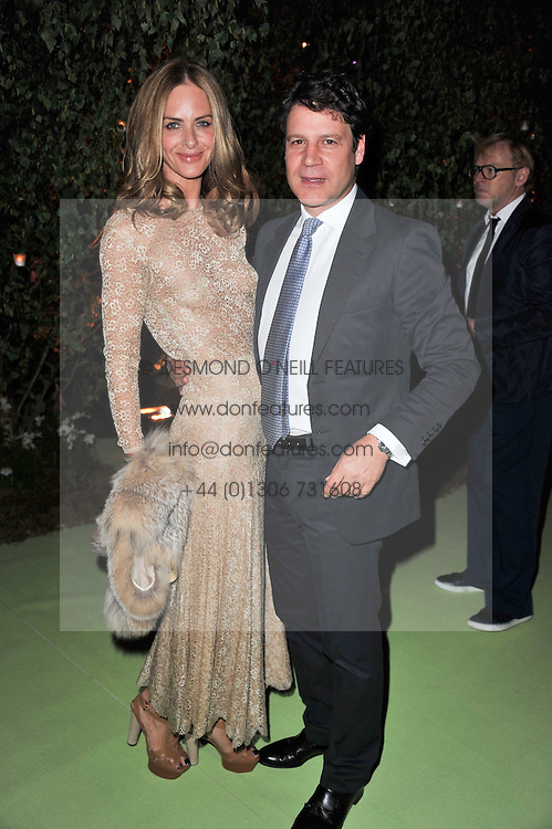 TRINNY WOODALL and STEFANO BONFIGLIO at a dinner hosted by Cartier in celebration of the Chelsea Flower Show held at Battersea Power Station, 188 Kirtling Street, London SW8 on 23rd May 2011.