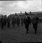 26/04/1963<br /> 04/26/1963<br /> 26 April 1963<br /> Taoiseach reviews the 39th Battalion before its deployment to the Congo. An Taoiseach Sean Lemass, accompanied by Commandant Desmond Hassey, 2nd in command reviews the troops at Cathal Brugha Barracks, Dublin.