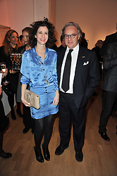 MOLLIE DENT-BROCKLEHURST and DIEGO DELLA VALLE  President and CEO of the Italian leather goods company, Tod's at the TOD'S Art Plus Drama Party at the Whitechapel Gallery, London on 24th March 2011.
