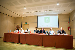 During press conference of NK Olimpija before new season of PLTS, on July 14, 2017 in Austria Trend Hotel, Ljubljana, Slovenia. Photo by Urban Urbanc / Sportida