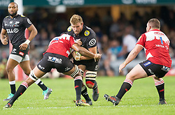 Durban. 300618. Tyler Paul during the Super Rugby match between Cell C Sharks and Emirates Lions and at Jonsson Kings Park Stadium on June 30, 2018 in Durban, South Africa. Picture Leon Lestrade. African News Agency/ANA