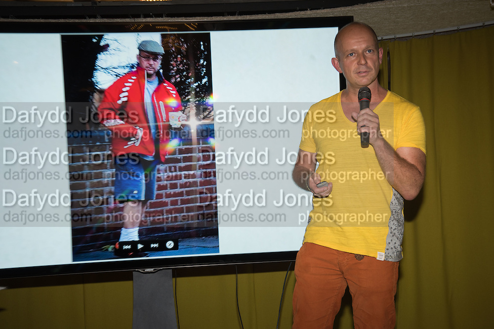 STEVE HILTON, Launch of ' More Human',  Designing a World Where People Come First' by Steve Hilton. Party held at Second Home in Princelet St, off Brick Lane, London. 19 May 2015.