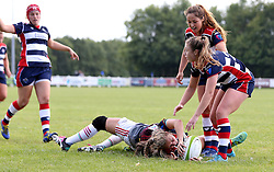 Lottie Holland of Bristol Ladies scores a try - Mandatory by-line: Robbie Stephenson/JMP - 18/09/2016 - RUGBY - Cleve RFC - Bristol, England - Bristol Ladies Rugby v Aylesford Bulls Ladies - RFU Women's Premiership