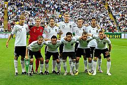 03.06.2010, Commerzbank-Arena, Frankfurt, GER, FIFA Worldcup Vorbereitung, Deutschland vs Bosnien-Herzegowina???, im Bild Foto: hvl. Holger Badstuber (FC Bayern Muenchen #14), Manuel Neuer (Schalke 04 #01), Arne Friedrich (Herta BSC #03), Per Mertesacker (Werder Bremen #17), Miroslav Klose (FC Bayern Muenchen #11),  Sami Khedira (VfB Stuttgart #06), vvl. Philip Lahm (FC Bayern Muenchen #16), Piotr Trochowski (Hamburger SV #15), Mesud Oezil (Werder Bremen #08), Lukas Podolski (1.FC Koeln #10), Bastian Schweinsteiger (FC Bayern Muenchen #07), nph /  Roth / SPORTIDA PHOTO AGENCY