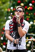 Former American Idol contestant, James Durbin performs at the Santana Row Shopping Center in San Jose, Calif., on Black Friday.  Photo by Stan Olszewski/SOSKIphoto
