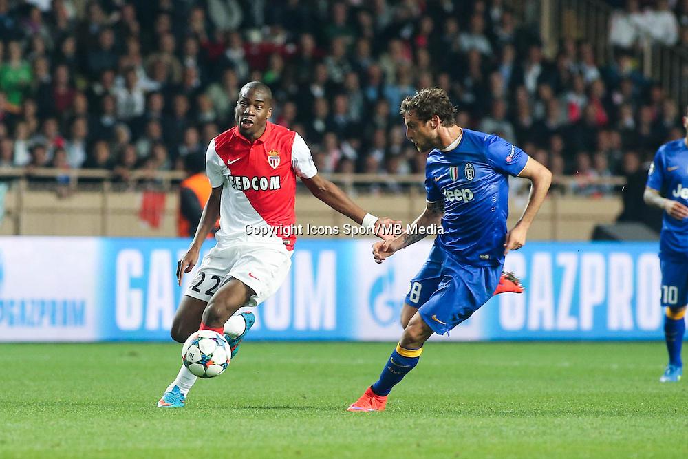 Geoffrey KONDOGBIA / Claudio MARCHISIO  - 22.04.2015 - Monaco / Juventus Turin - 1/4Finale retour Champions League<br />Photo : Serge Haouzi / Icon Sport