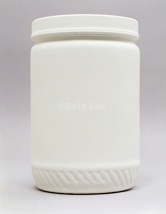 a jar painted white