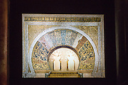 Model of the Mihrab from the Great Mosque, Torre de la Calahorra museum,Cordoba, Spain