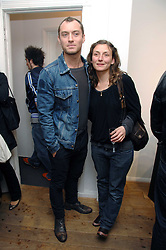 Actor JUDE LAW and his sister artist NATASHA LAW at a private view of an exhibition entitled Animal Magic featuring work by various artists held at Eleven, 11 Eccleston Street, London SW1 on 30th April 2008.<br /><br />NON EXCLUSIVE - WORLD RIGHTS