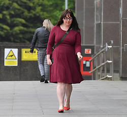 Pictured: Natalie McGarry leaves court.<br /> <br /> <br /> Former SNP MP Natalie McGarry appeared at Glasgow Sheriff Court at what was supposed to be the start of her trial, where she however pled quilty to embezzling funds from independence campaign organisations.<br /> <br /> &copy; Dave Johnston / EEm