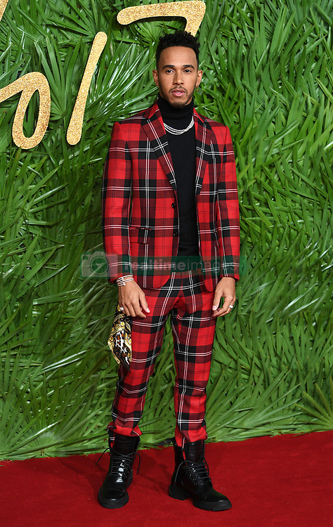 Lewis Hamilton attending the Fashion Awards 2017, in partnership with Swarovski, held at the Royal Albert Hall, London. Picture Credit Should Read: Doug Peters/ EMPICS Entertainment