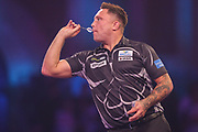 Gerwyn Price during the PDC William Hill World Darts Championship at Alexandra Palace, London, United Kingdom on 19 December 2019.