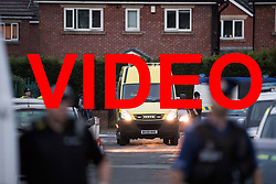 VIDEO AVAILABLE HERE: https://we.tl/EIzRQ3EE0l<br /> <br /> &copy; Licensed to London News Pictures . 25/07/2017 . Oldham , UK . Scene where an armed siege that began at 3.15am on Tuesday 25th July in a house on Pemberton Way in Shaw , is ongoing . A man named locally as Marc Schofield is reported to be holding a woman hostage after earlier releasing two children . The gas supply in the area has been cut off and several neighbouring properties have been evacuated . Photo credit : Joel Goodman/LNP
