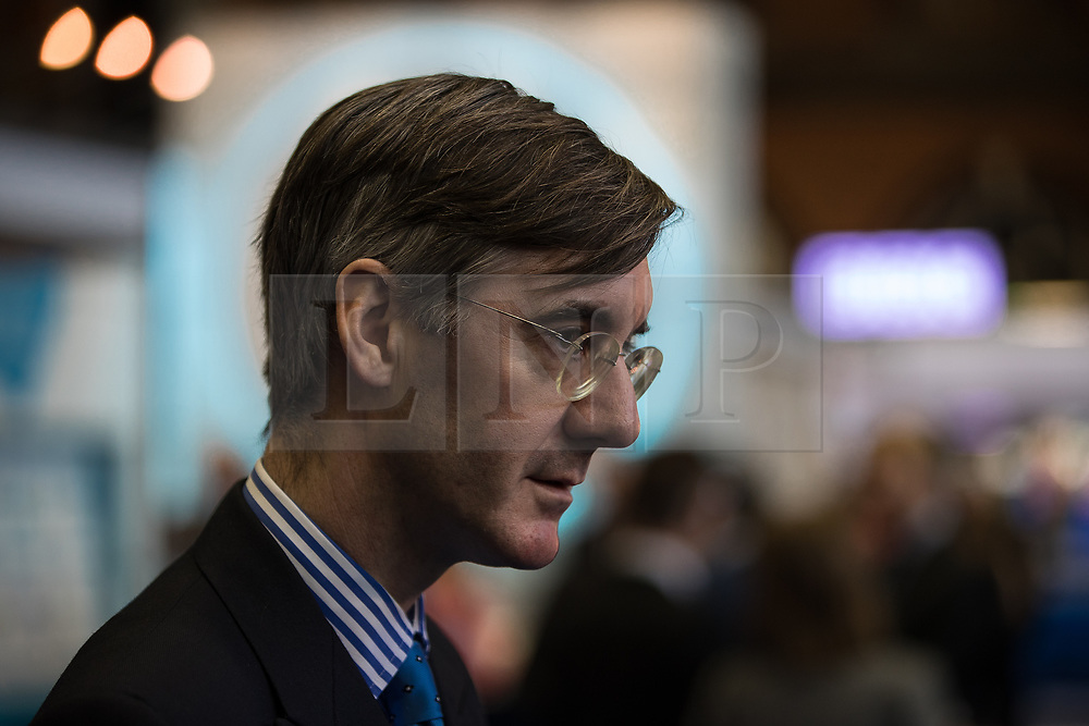 © Licensed to London News Pictures . 02/10/2017. Manchester, UK. JACOB REES-MOGG at the conference . The second day of the Conservative Party Conference at the Manchester Central Convention Centre . Photo credit: Joel Goodman/LNP