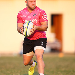 Akker van der Merwe of the Cell C Sharks during the Cell C Sharks training, Jonsson Kings Park Stadium,Durban South Africa.27,06,2018 Photo by (Steve Haag REX Shutterstock )