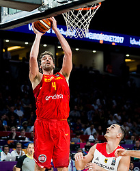 Pau Gasol of Spain during basketball match between National Teams of Germany and Spain at Day 13 in Round of 16 of the FIBA EuroBasket 2017 at Sinan Erdem Dome in Istanbul, Turkey on September 12, 2017. Photo by Vid Ponikvar / Sportida