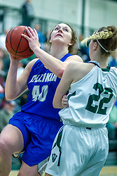 BLOOMINGTON, IL - January 04: Abby Tatsch during a college women's basketball game between the IWU Titans  and the Millikin Big Blue on January 04 2020 at Shirk Center in Bloomington, IL. (Photo by Alan Look)