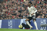 Manchester United defender Aaron Wan-Bissaka (29) during the Premier League match between Liverpool and Manchester United at Anfield, Liverpool, England on 19 January 2020.