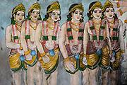 Painted Hindu shrine wall at Sangamankanda. East Coast.