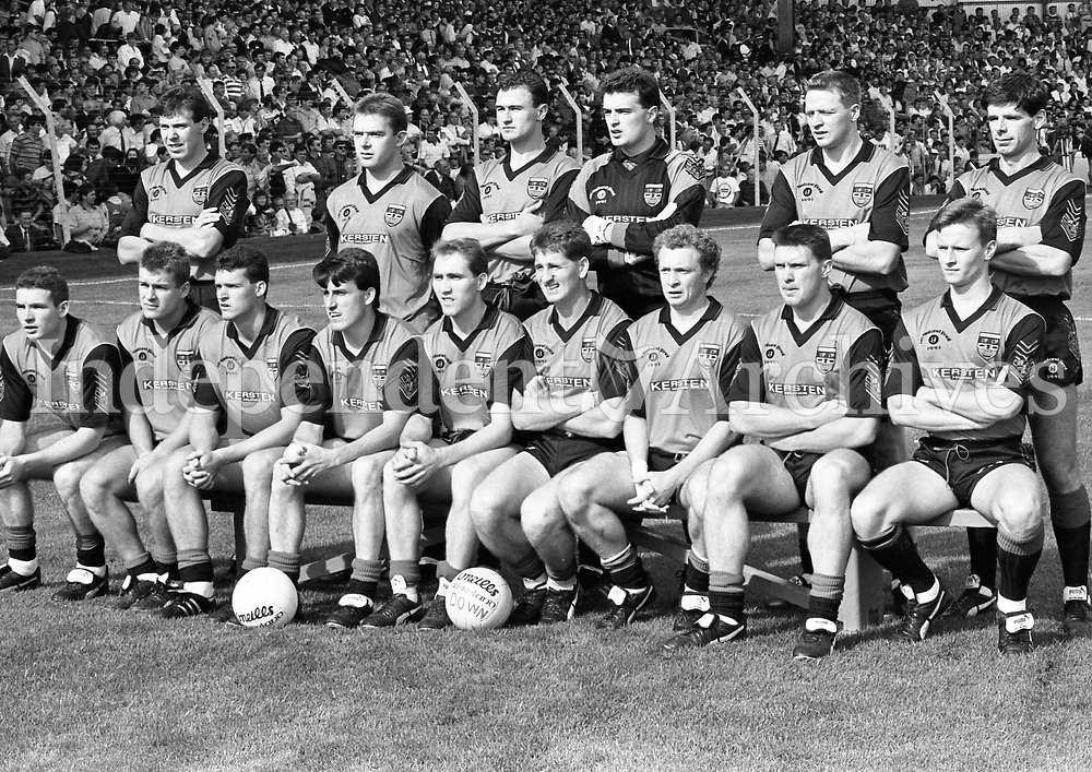 991-327<br /> All Ireland Football Final<br /> Down 1-16 Meath 1-14.<br /> September 15th 1991.<br /> Down Team.<br /> Pic: JOK<br /> (Part of the Independent Newspapers Ireland/NLI Collection)