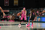 January 25, 2018: Nausia Woolfolk #13 of Florida State in action during the NCAA basketball game between the Miami Hurricanes and the Florida State Seminoles in Coral Gables, Florida. The Seminoles defeated the 'Canes 91-71.