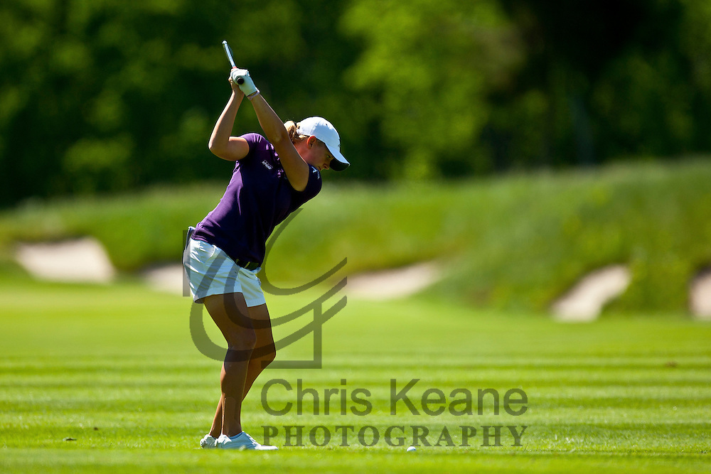 17 May 2012: Stacy Lewis plays her second shot on the fourth hole during the first round of match play at the Sybase Match Play Championship at Hamilton Farm Golf Club in Gladstone, New Jersey on May 17, 2012.