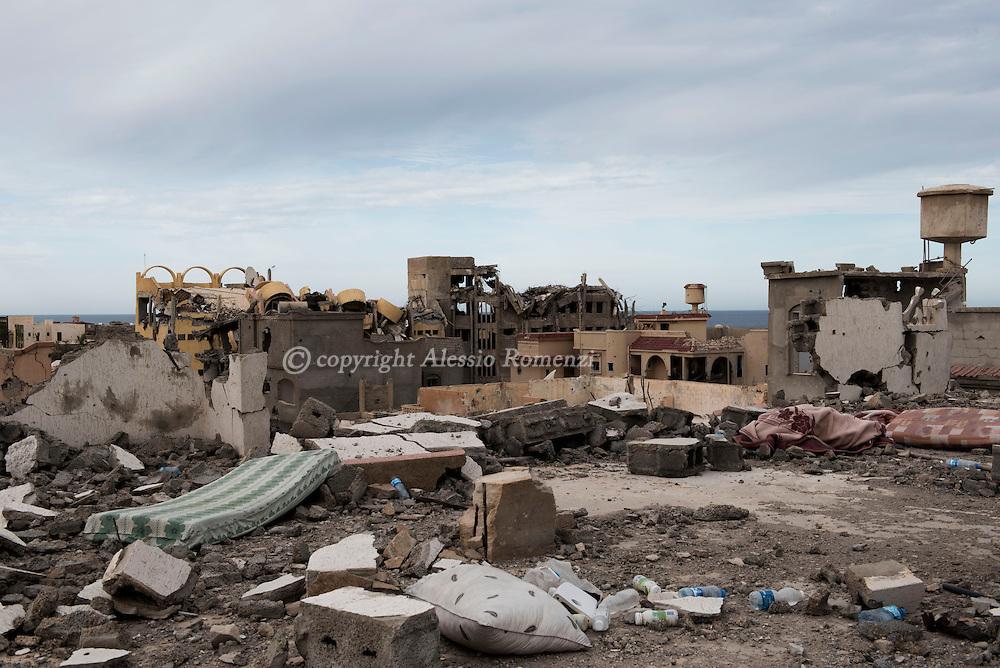 Libya, Sirte: Destruction in central Sirte on November 25, 2016.  Alessio Romenzi