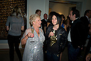 LANA DUNPHY; SUE WEBSTER, Damien Hirst party to preview his exhibition at Sotheby's. New Bond St. London. 12 September 2008 *** Local Caption *** -DO NOT ARCHIVE-© Copyright Photograph by Dafydd Jones. 248 Clapham Rd. London SW9 0PZ. Tel 0207 820 0771. www.dafjones.com.