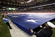 ST. LOUIS, MO - SEPTEMBER 11:   9/11 ceremonies before a game between the St. Louis Rams and the Philadelphia Eagles at the Edward Jones Dome on September 11, 2011 in St. Louis, Missouri.  The Eagles defeated the Rams 31 to 13.  (Photo by Wesley Hitt/Getty Images) *** Local Caption ***