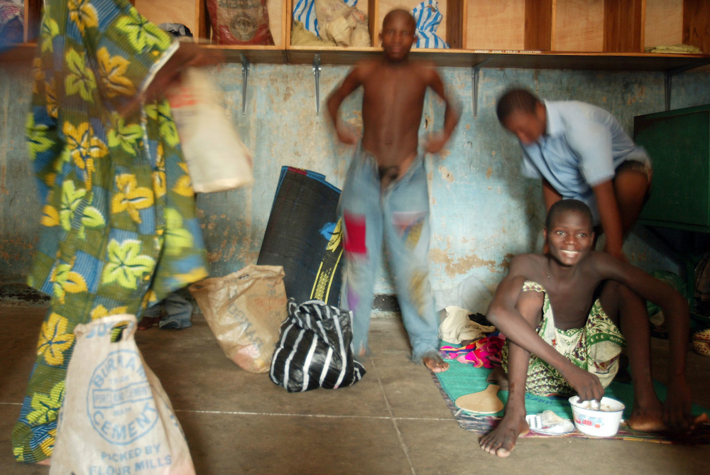 Benin Cotonou September 2003 - Benin knows many children of the streets. The majority of these.children are boys who find themselves in prison. Many among these children streets consume drugs, they are there for use, possession and/or trade of drug, Violence and rapes