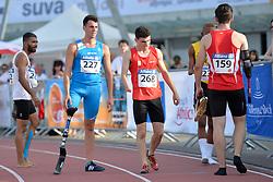 03/08/2017; Lal, Vinay Kumar, T44, IND, Pentagoni, Marco, T42, ITA, Madronero Ramon, David, T47, ESP, Pototschnig, Alexander, AUT at 2017 World Para Athletics Junior Championships, Nottwil, Switzerland