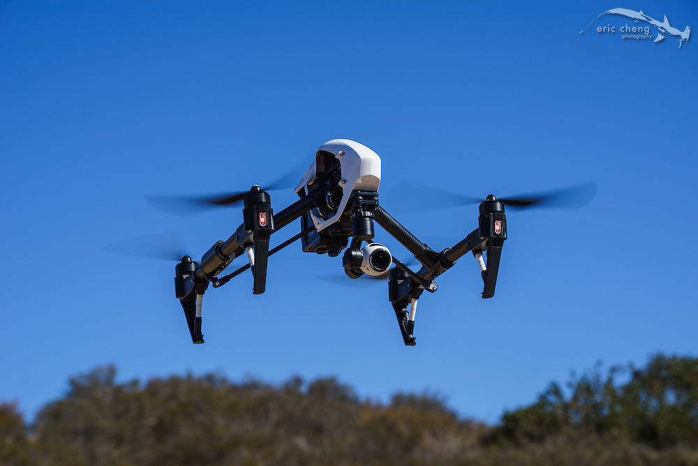 DJI Inspire 1, build number 23, in down position
