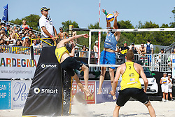 20140607 ITA: EK Beachvolleybal, Cagliari<br /> Jon Stiekema, Paolo Nicolai, Christiaan Varenhorst <br /> ©2014-FotoHoogendoorn.nl / Pim Waslander