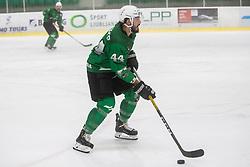 Planko David of HK Olimpija during Ice Hockey match between HK SZ Olimpija and EC KAC II during 1st round of Alps Hockey League 2019/20, on September 14, 2019, in Hala Tivoli, Ljubljana, Slovenia. Photo by Grega Valancic