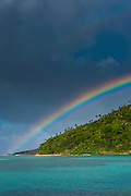 Incredble Rainbow over an islet of Ofu Island, Manu´a island group, American Samoa, South Pacific