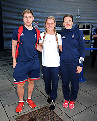 *Caption correction* Philip Hindes, Laura Trott, Katy Merchant