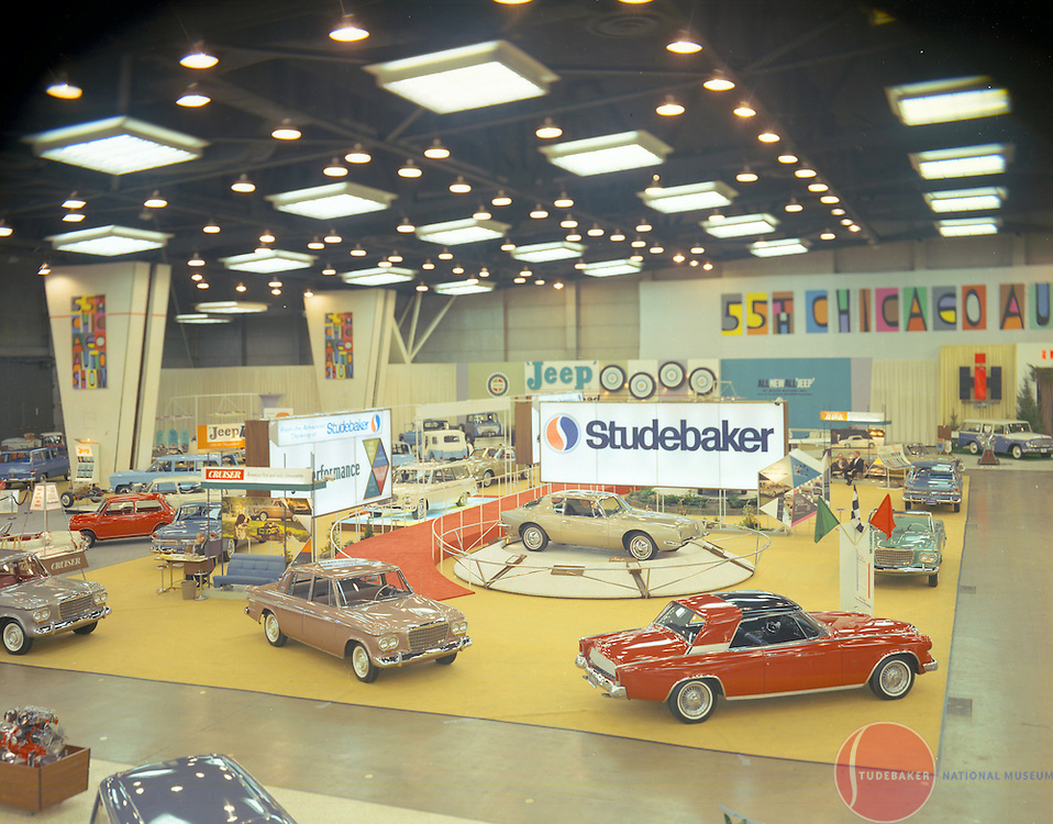 Studebaker's display the 1963 Chicago Auto Show.