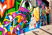 Street Art, Graffiti piece in the Bushwick neighborhood, Brooklyn, New York City.