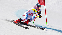 March 14, 2018 - Pyeongchang, South Korea - Tyler Carter of the US during Giant Slalom competition Wednesday, March 14, 2018 at the Jeongson Alpine Center at the Pyeongchang Winter Paralympic Games. Photo by Mark Reis (Credit Image: © Mark Reis via ZUMA Wire)