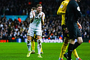 Leeds United defender Liam Cooper (6) reacts during the EFL Sky Bet Championship match between Leeds United and Millwall at Elland Road, Leeds, England on 28 January 2020.