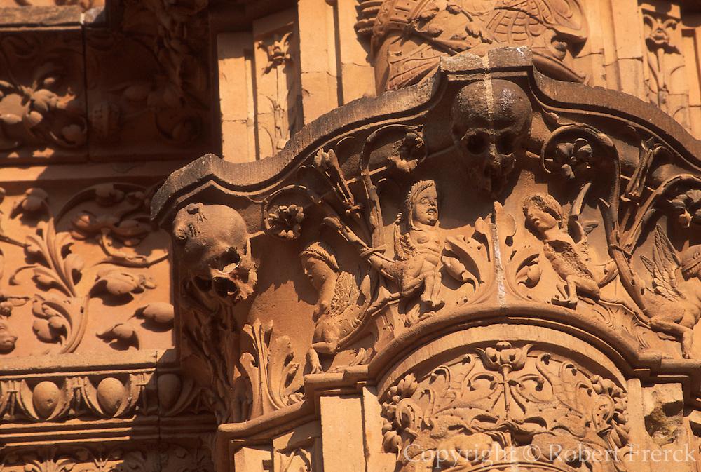 SPAIN, CASTILE, SALAMANCA University, façade with frog detail