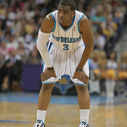 25 March 2009: during a 101-88 loss by the New Orleans Hornets to the Denver Nuggets at the New Orleans Arena in New Orleans, Louisiana.